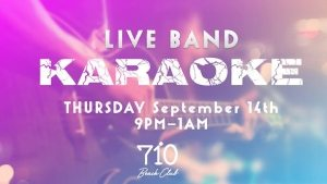 Live band KaRaOkE - Rock Out Karaoke @ 710 Beach Club | San Diego | CA | United States